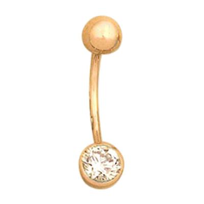 Золотой пирсинг с фианитом арт. 12011002 12011002