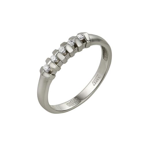 Кольцо из белого золота Бриллиант арт. 1-104-814 1-104-814