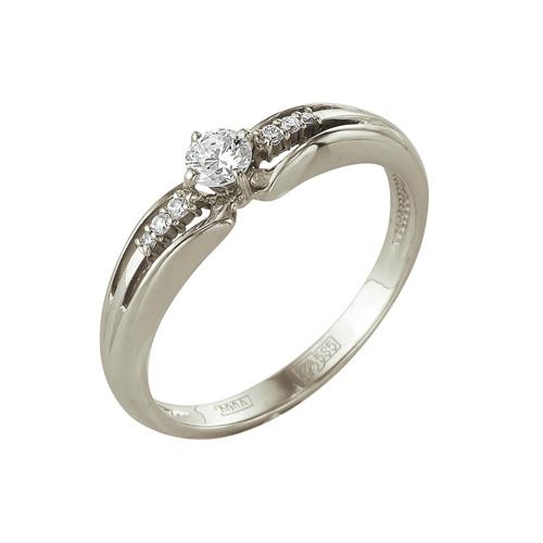 Кольцо из белого золота Бриллиант арт. 1-104-966 1-104-966