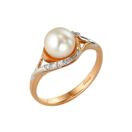 Золотое кольцо Бриллиант и Жемчуг арт. 1-104-996 1-104-996