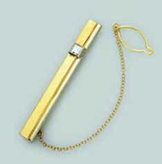 Зажим из лимонного золота с бриллиантом арт. 0267822 0267822