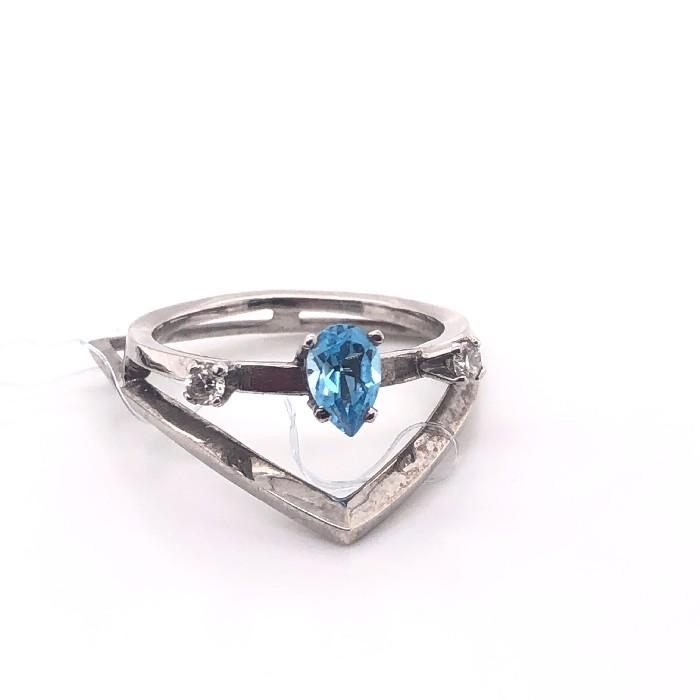 Кольцо из белого золота Бриллиант и Топаз арт. 40.0103 40.0103