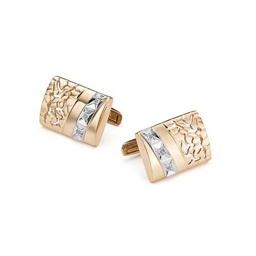 Золотые запонки с бриллиантом арт. 4-002 4-002