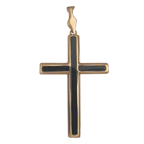 Золотой крест с ониксом арт. 01р410458 01р410458