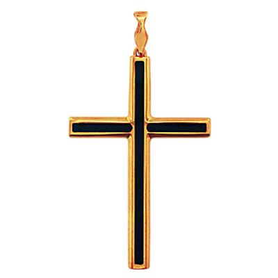 Золотой крест с ониксом арт. 01р410459 01р410459