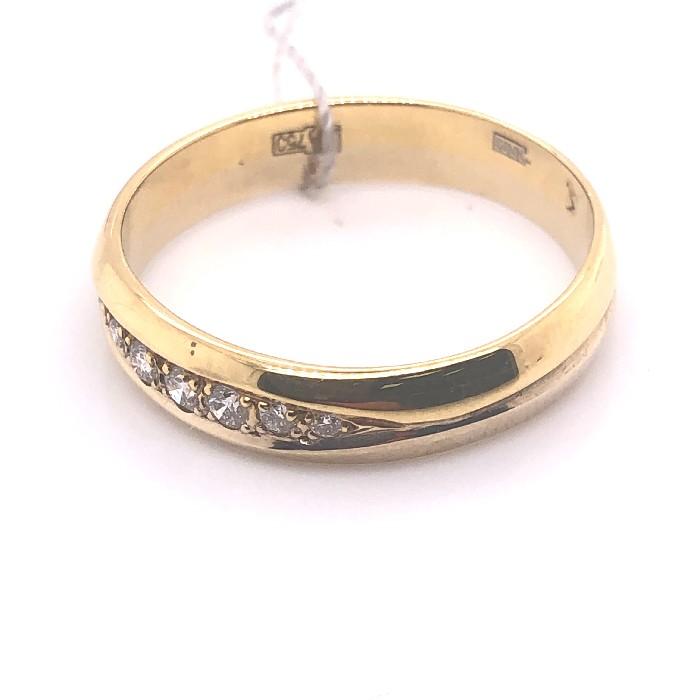 Обручальное кольцо из лимонного золота с бриллиантом арт. 0205822 0205822