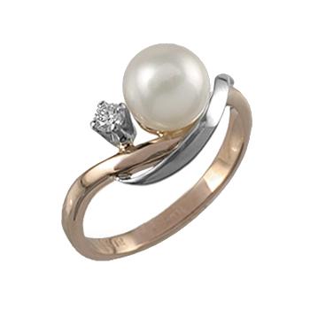 Золотое кольцо Бриллиант и Жемчуг арт. 88597 88597