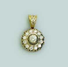 Подвес из лимонного золота с бриллиантом арт. 02501 02501