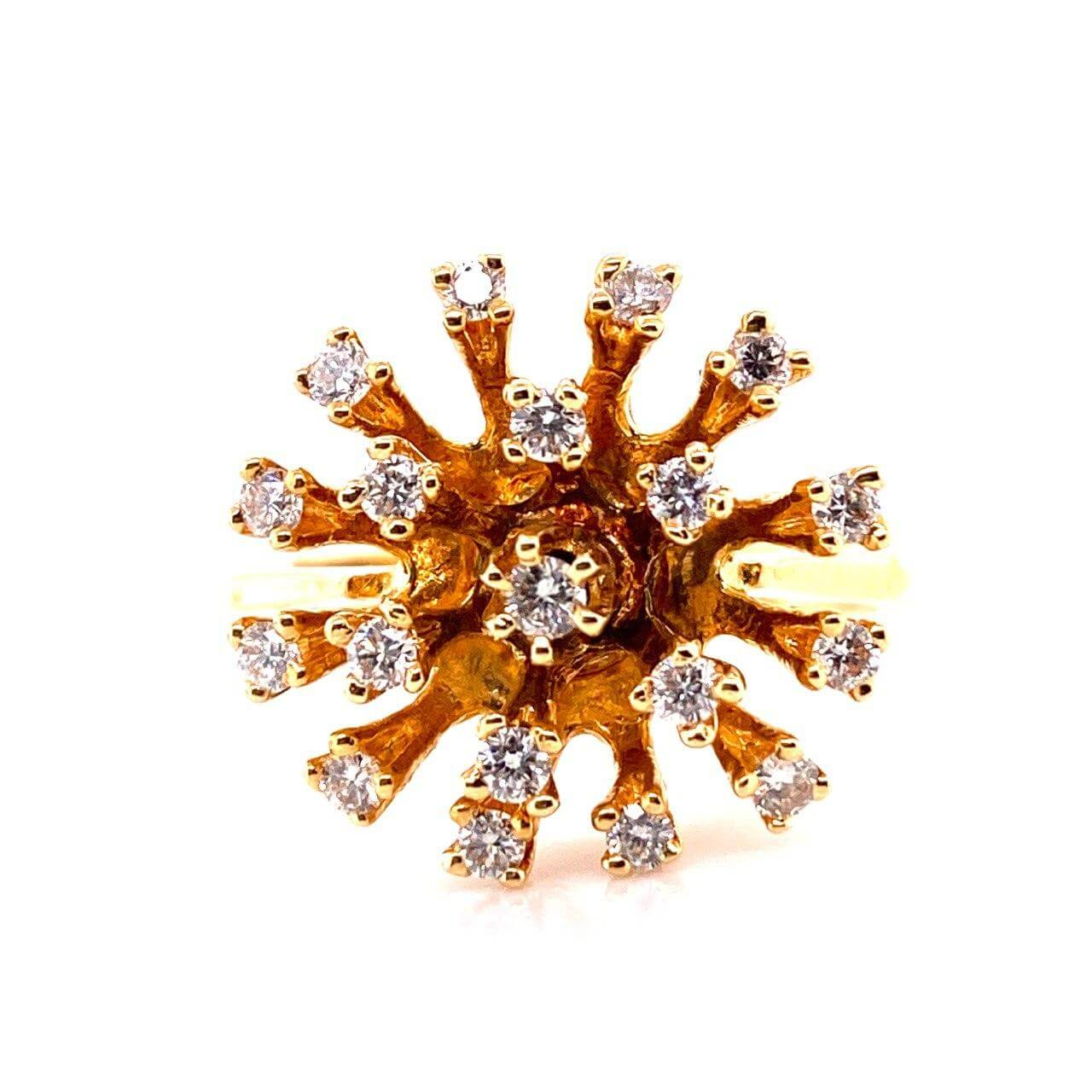 Кольцо из лимонного золота Бриллиант арт. 0175 0175