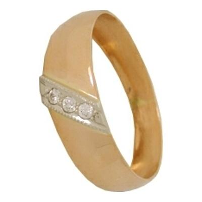 Обручальное кольцо из золота с фианитом арт. 1207700281 1207700281