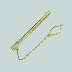 Зажим из лимонного золота с бриллиантом арт. 0268022 0268022