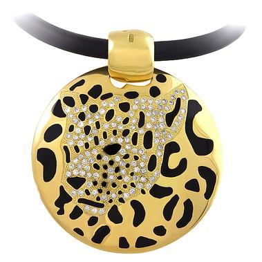 Колье из лимонного золота с бриллиантом и эмалью арт. 30021.0305 30021.0305