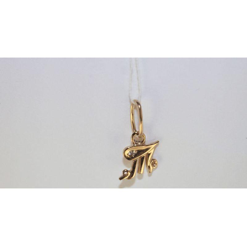 Подвес буква из золота с фианитом арт. 3102158 3102158