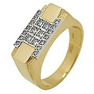Золотая печатка с бриллиантом Бриллиант арт. 91621332 91621332