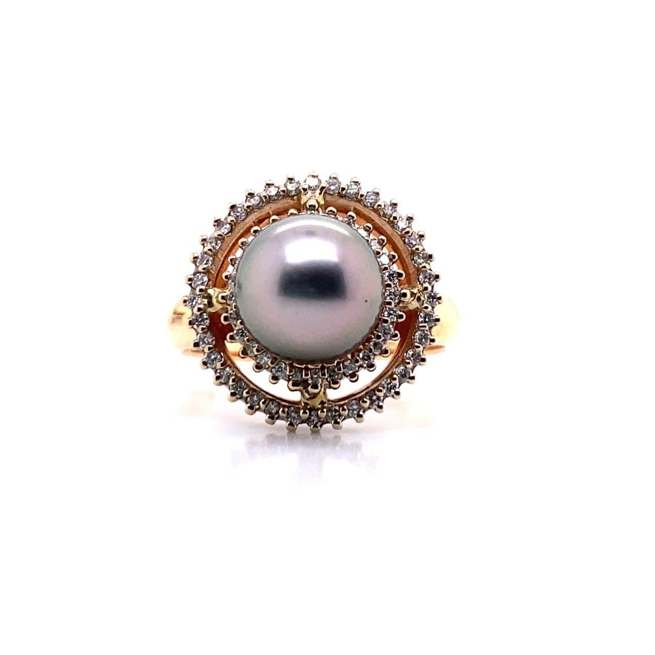 Золотое кольцо Бриллиант и Жемчуг арт. 91621552 91621552