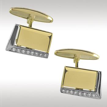 Запонки из лимонного золота с бриллиантом арт. 86437 86437