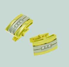 Запонки из лимонного золота с бриллиантом арт. 0288122 0288122