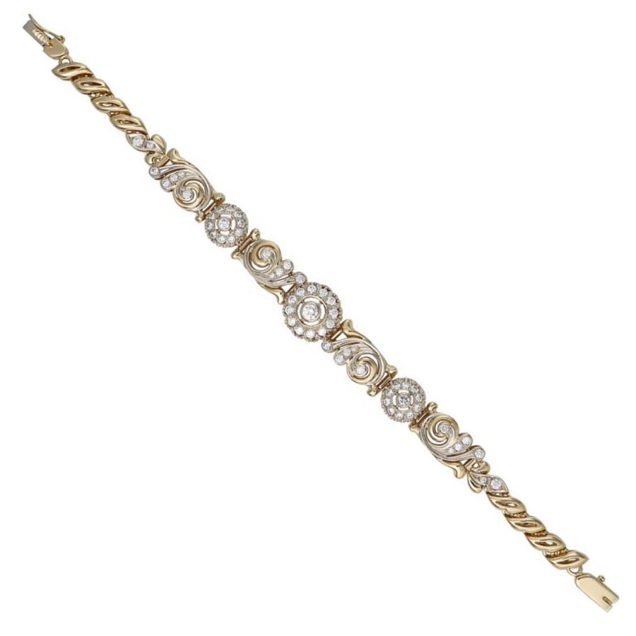 Браслет из лимонного золота с бриллиантом арт. 23604 23604