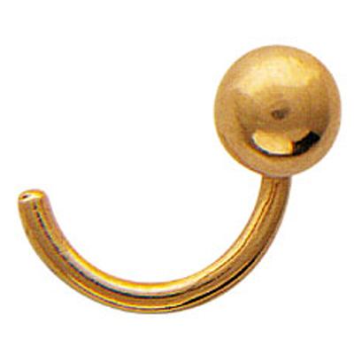Пирсинг в нос из золота арт. 07и015409 07и015409