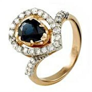 Золотое кольцо Бриллиант и Сапфир арт. 91621438 91621438