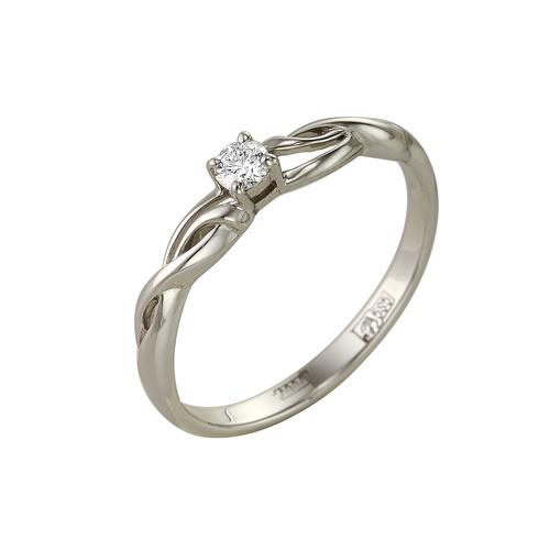 Кольцо из белого золота Бриллиант арт. 1-104-737 1-104-737