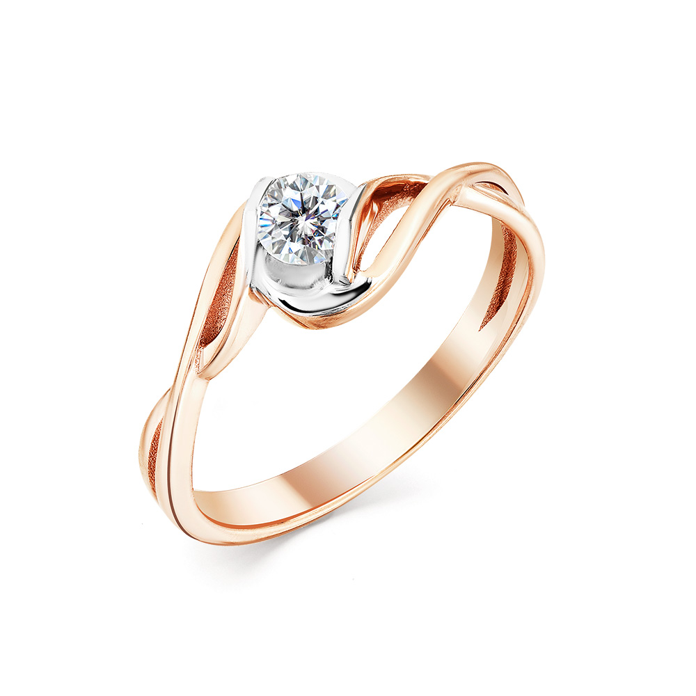 Кольцо из белого золота Бриллиант арт. 1-104-998 1-104-998