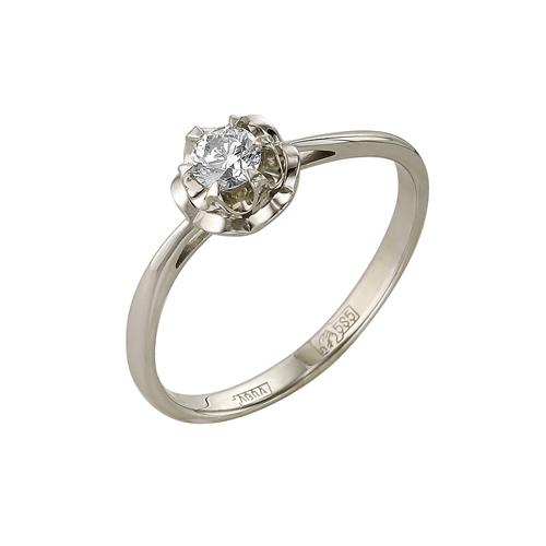 Кольцо из белого золота Бриллиант арт. 1-105-05 1-105-05