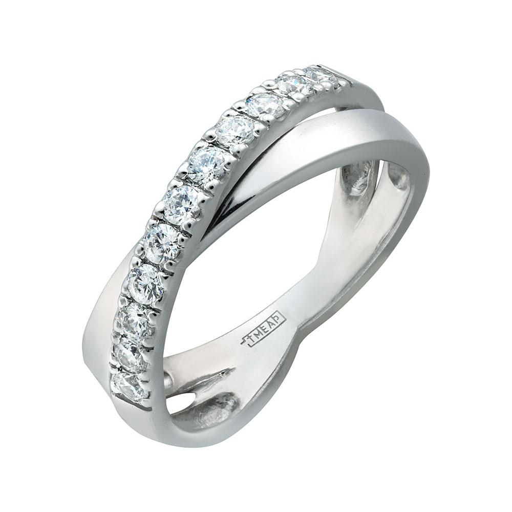 Кольцо из белого золота 0009