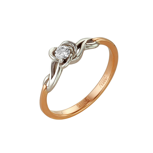 Кольцо из белого золота Бриллиант арт. 1-104-941 1-104-941