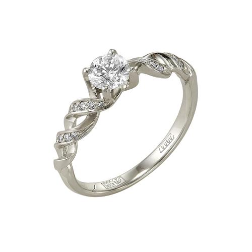 Кольцо из белого золота Бриллиант арт. 1-105-42 1-105-42