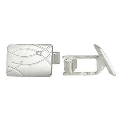 Серебряные запонки с фианитом арт. 3200048012 3200048012