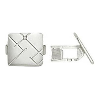 Серебряные запонки с фианитом арт. 3200048014 3200048014