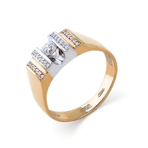 Золотая печатка с бриллиантом Бриллиант арт. 1-104-862 1-104-862