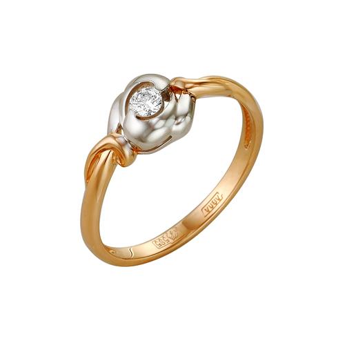 Кольцо из белого золота Бриллиант арт. 1-105-112 1-105-112