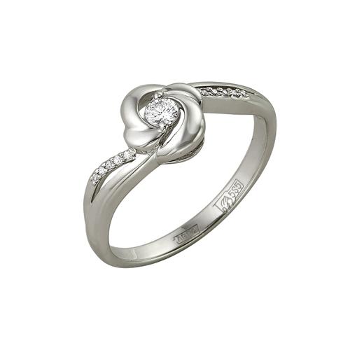 Кольцо из белого золота Бриллиант арт. 1-105-128 1-105-128