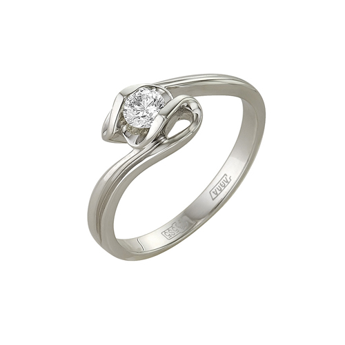Кольцо из белого золота Бриллиант арт. 1-105-18 1-105-18