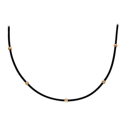 Золотое колье с каучуком арт. 14031040 14031040