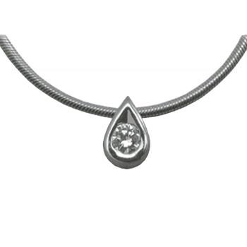 Колье из белого золота с бриллиантом и цепью золотой арт. 87254-I 87254-I
