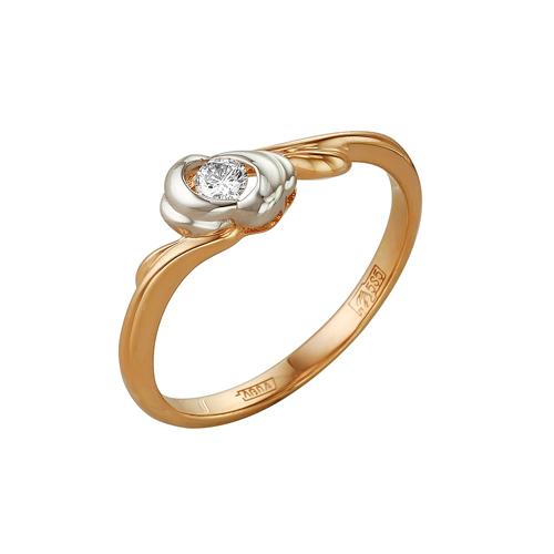 Кольцо из белого золота Бриллиант арт. 1-105-116 1-105-116