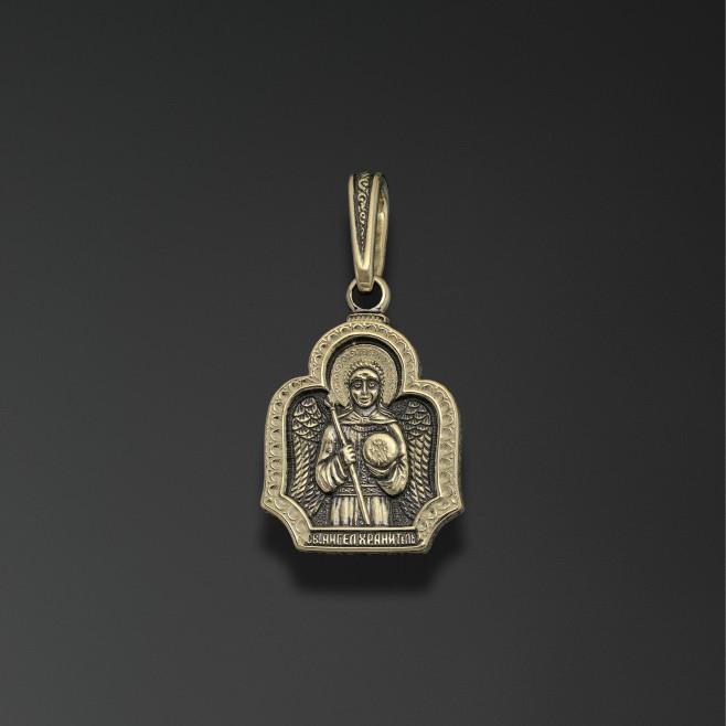 Иконка-подвес из лимонного золота Ангел Хранитель арт. 44053 44053