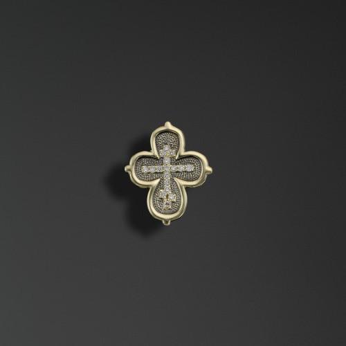 Крест из лимонного золота арт. 44098 44098