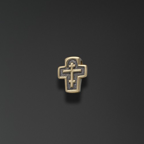 Крест из лимонного золота арт. 44099 44099