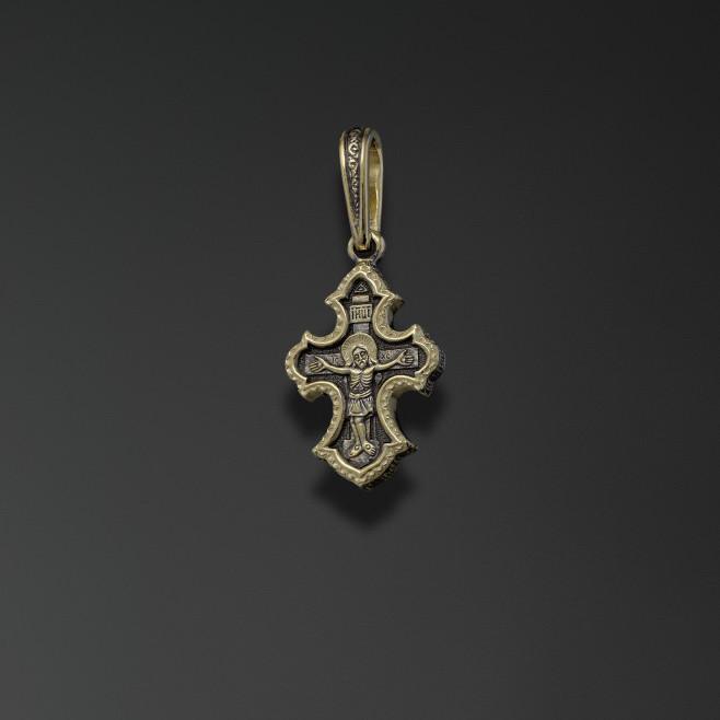 Крест из лимонного золота арт. 44112 44112