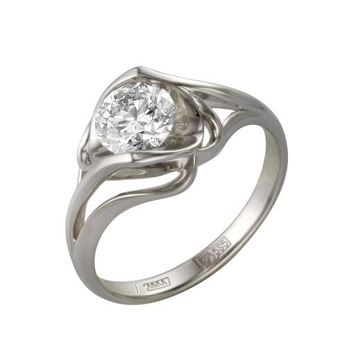 Кольцо из белого золота Бриллиант арт. 1-105-81 1-105-81