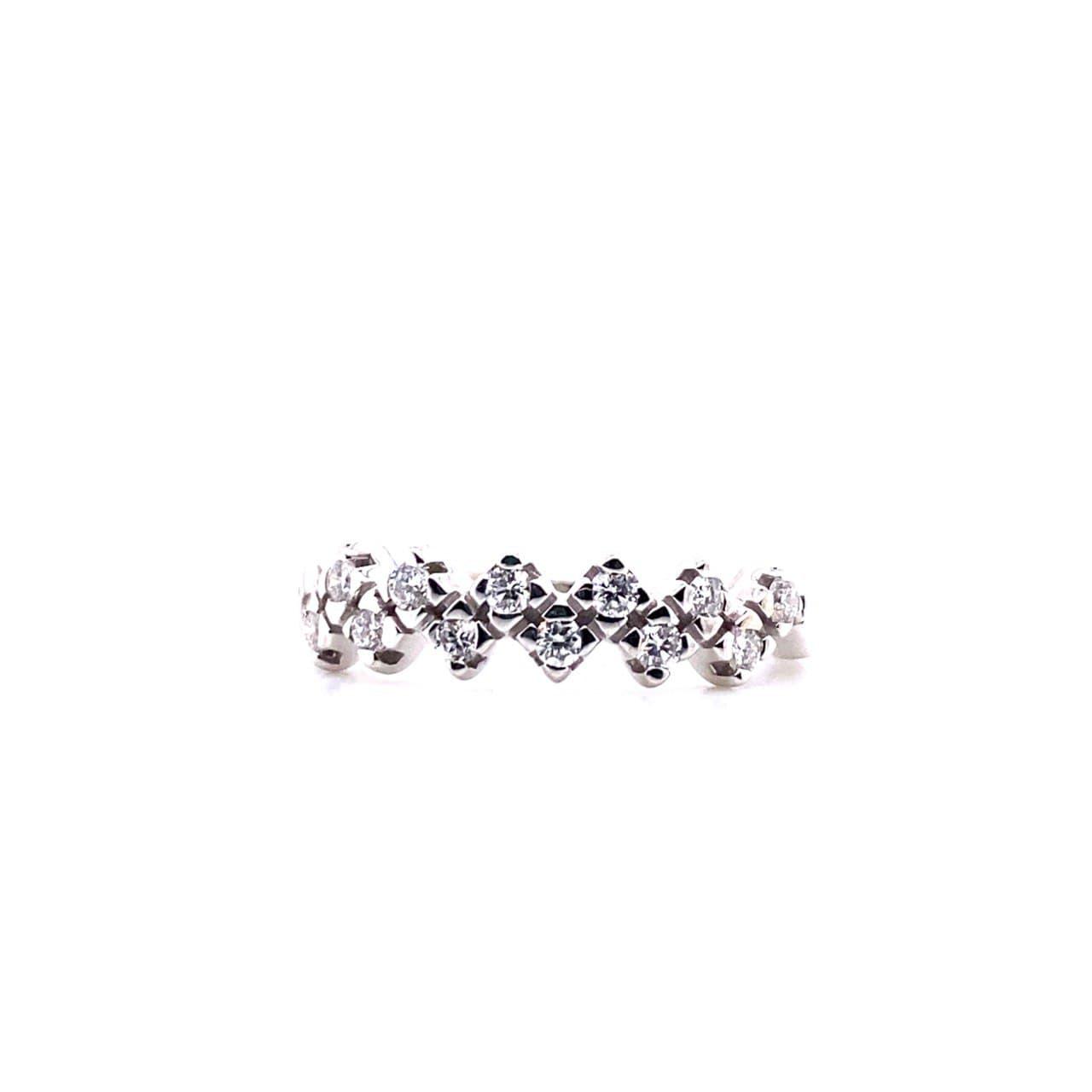 Кольцо из белого золота 0138