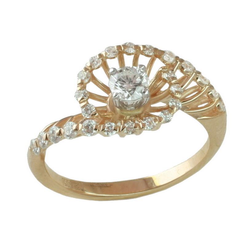 Кольцо из белого золота Бриллиант арт. 1-1103 1-1103