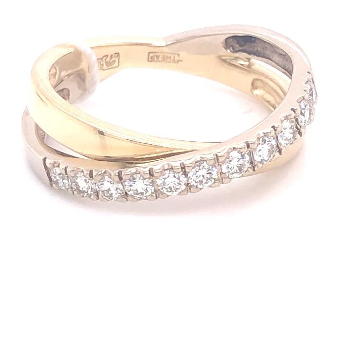 Кольцо из лимонного золота Бриллиант арт. 0009 0009