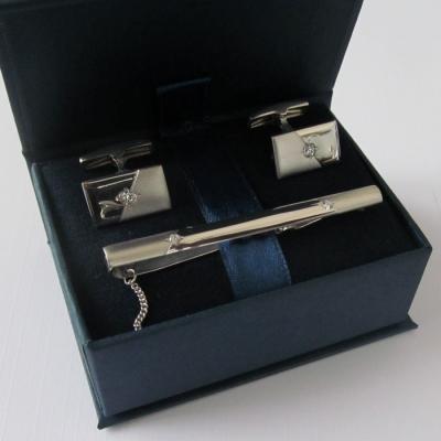 Серебряные запонки с фианитом арт. 141011 141011