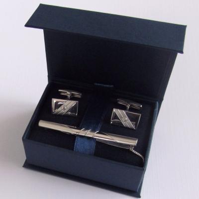 Серебряные запонки с фианитом арт. 141004 141004