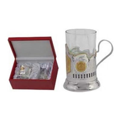 Подстаканник с серебром 925 пробы и стеклом арт. 3702071011 стакан 0061 3702071011 стакан 0061